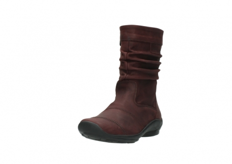 wolky mid calf boots 01678 jacky wp 50510 burgundy oiled leather water proof warm lining_22