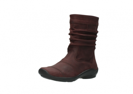 wolky mid calf boots 01678 jacky wp 50510 burgundy oiled leather water proof warm lining_23