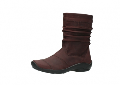 wolky mid calf boots 01678 jacky wp 50510 burgundy oiled leather water proof warm lining_24