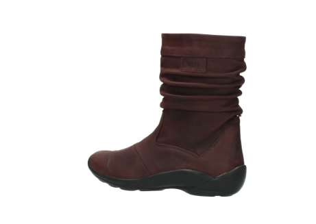 wolky mid calf boots 01678 jacky wp 50510 burgundy oiled leather water proof warm lining_4