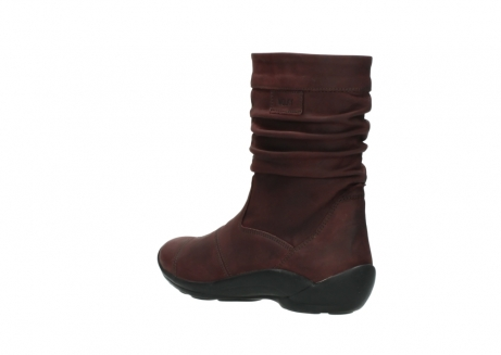 wolky mid calf boots 01678 jacky wp 50510 burgundy oiled leather water proof warm lining_5