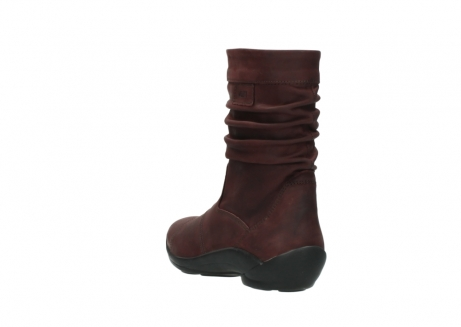 wolky mid calf boots 01678 jacky wp 50510 burgundy oiled leather water proof warm lining_6
