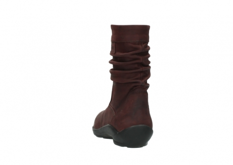wolky mid calf boots 01678 jacky wp 50510 burgundy oiled leather water proof warm lining_7