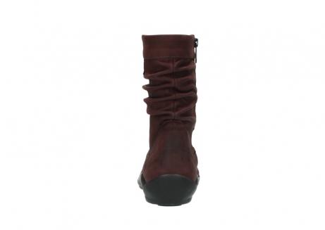 wolky mid calf boots 01678 jacky wp 50510 burgundy oiled leather water proof warm lining_8