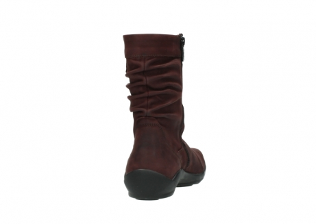 wolky mid calf boots 01678 jacky wp 50510 burgundy oiled leather water proof warm lining_9