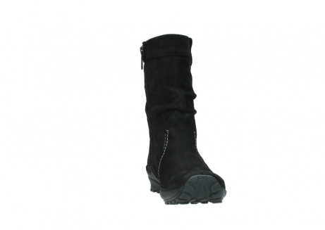 wolky mid calf boots 01732 bryce 50000 black oiled leather_18