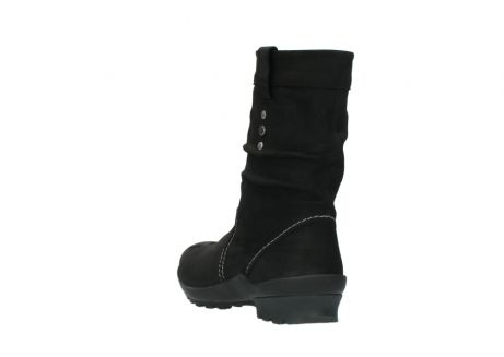 wolky mid calf boots 01732 bryce 50000 black oiled leather_5