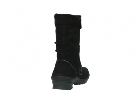 wolky mid calf boots 01732 bryce 50000 black oiled leather_8