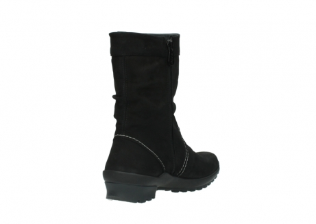 wolky mid calf boots 01732 bryce 50000 black oiled leather_9