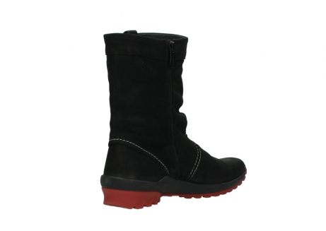 wolky mid calf boots 01732 bryce 50020 black red oiled leather_10