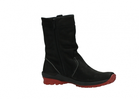wolky mid calf boots 01732 bryce 50020 black red oiled leather_15