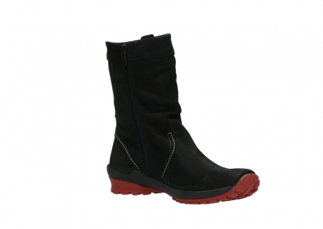 wolky mid calf boots 01732 bryce 50020 black red oiled leather_16