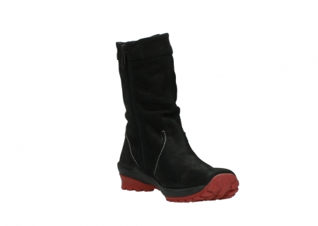 wolky mid calf boots 01732 bryce 50020 black red oiled leather_17