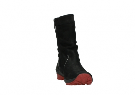 wolky mid calf boots 01732 bryce 50020 black red oiled leather_18