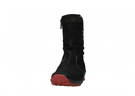 wolky mid calf boots 01732 bryce 50020 black red oiled leather_20