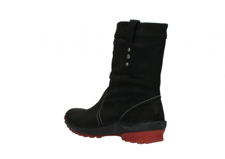 wolky mid calf boots 01732 bryce 50020 black red oiled leather_4
