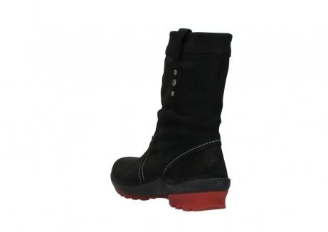 wolky mid calf boots 01732 bryce 50020 black red oiled leather_5