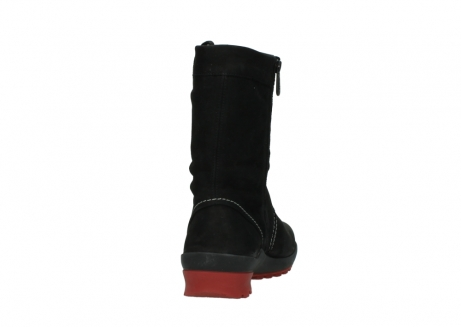 wolky mid calf boots 01732 bryce 50020 black red oiled leather_8