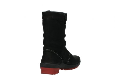 wolky mid calf boots 01732 bryce 50020 black red oiled leather_9