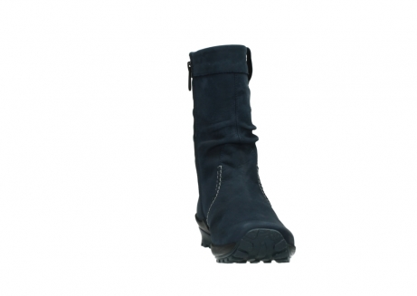 wolky mid calf boots 01732 bryce 50800 dark blue oiled leather_18