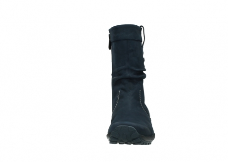 wolky mid calf boots 01732 bryce 50800 dark blue oiled leather_19