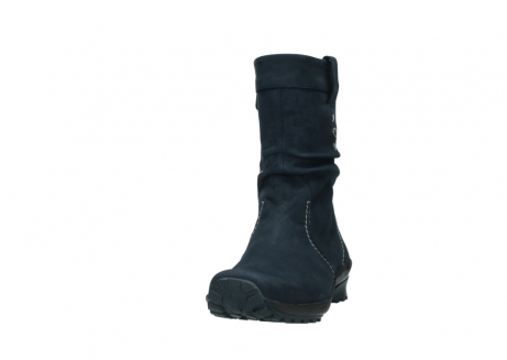 wolky mid calf boots 01732 bryce 50800 dark blue oiled leather_20