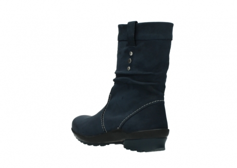 wolky mid calf boots 01732 bryce 50800 dark blue oiled leather_4