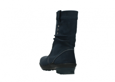 wolky mid calf boots 01732 bryce 50800 dark blue oiled leather_5