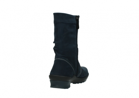 wolky mid calf boots 01732 bryce 50800 dark blue oiled leather_8