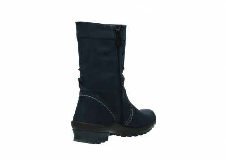 wolky mid calf boots 01732 bryce 50800 dark blue oiled leather_9