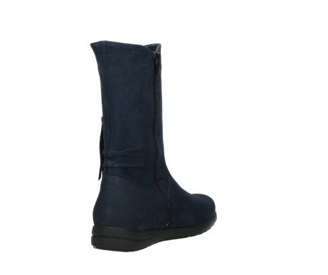 wolky mid calf boots 02425 newton wp 13800 blue nubuckleather_9
