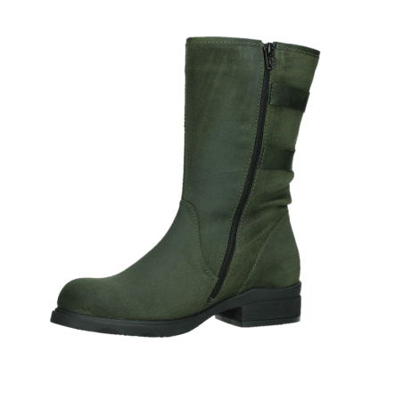 wolky mid calf boots 02626 willis 45730 forestgreen suede_11