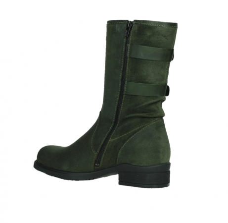 wolky mid calf boots 02626 willis 45730 forestgreen suede_15