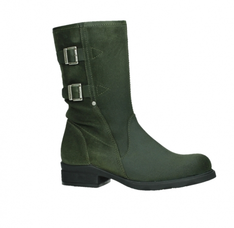 wolky mid calf boots 02626 willis 45730 forestgreen suede_2