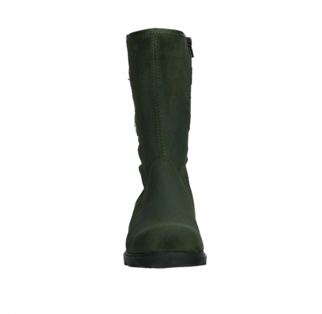 wolky mid calf boots 02626 willis 45730 forestgreen suede_7