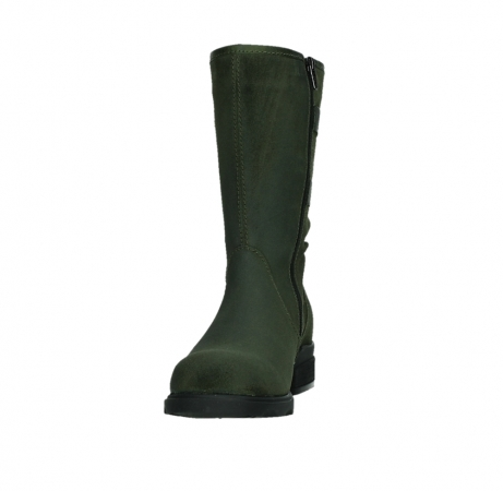 wolky mid calf boots 02626 willis 45730 forestgreen suede_8