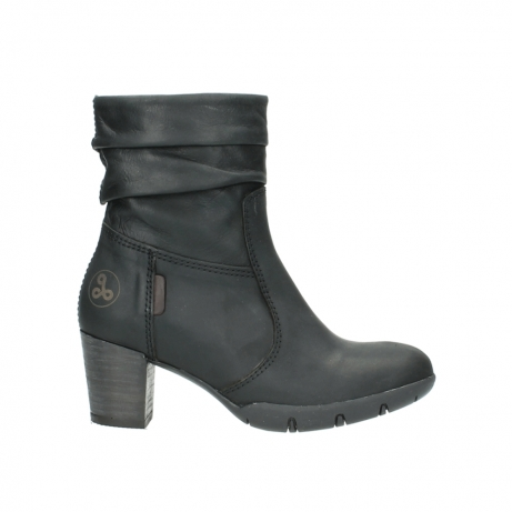 wolky mid calf boots 03676 colville 50000 leontien black oiled leather