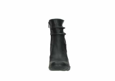 wolky mid calf boots 03676 colville 50000 leontien black oiled leather_19