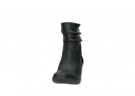 wolky mid calf boots 03676 colville 50000 leontien black oiled leather_20