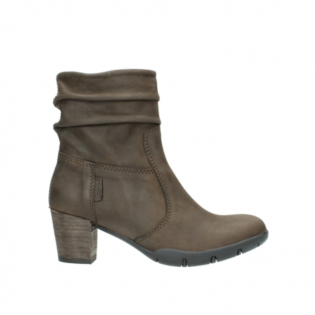 wolky mid calf boots 03676 colville 50150 taupe oiled leather