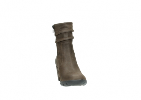 wolky mid calf boots 03676 colville 50150 taupe oiled leather_18