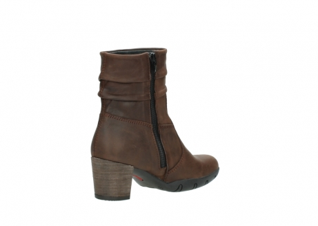 wolky mid calf boots 03676 colville 50300 brown oiled leather_10