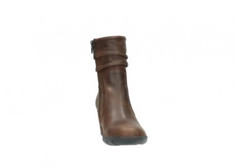 wolky mid calf boots 03676 colville 50300 brown oiled leather_18