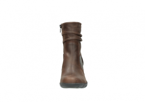 wolky mid calf boots 03676 colville 50300 brown oiled leather_19