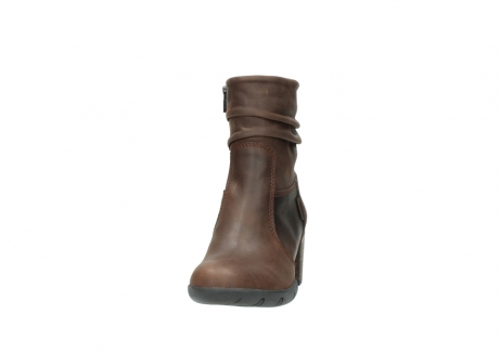 wolky mid calf boots 03676 colville 50300 brown oiled leather_20