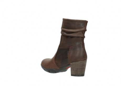 wolky mid calf boots 03676 colville 50300 brown oiled leather_4