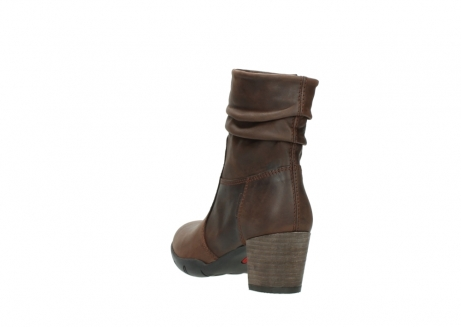 wolky mid calf boots 03676 colville 50300 brown oiled leather_5