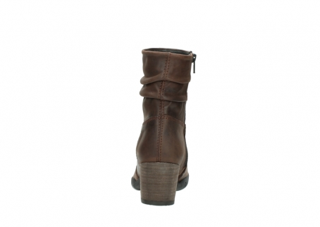 wolky mid calf boots 03676 colville 50300 brown oiled leather_7