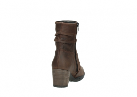 wolky mid calf boots 03676 colville 50300 brown oiled leather_8