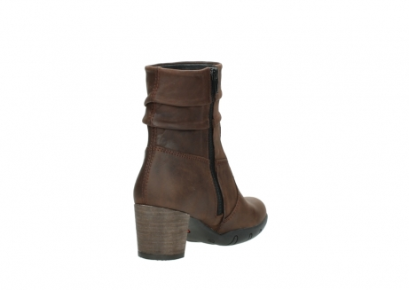 wolky mid calf boots 03676 colville 50300 brown oiled leather_9